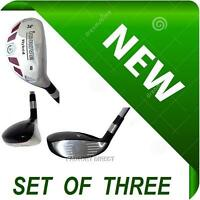 SENIORS Made NEW Hybrids Set of 3 Taylor Fit #6 #7 #8 Graphite Rescue Iron Woods