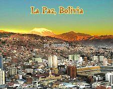 Bolivia - LA PAZ - Travel Souvenir FLEXIBLE FRIDGE MAGNET