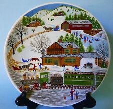 VOHENSTRAUSS JOHANN SELTMANN BAVARIA COLLECTIBLE PLATE CHRISTMAS SNOW TRAIN