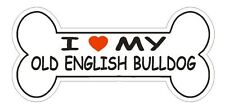Love My Old English Bulldog Bumper Sticker or Helmet Sticker D2495 Dog Decal