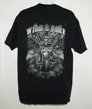 Mens XL Unisex Biker Tee T Shirt Wild & Free Eagles Route 66 Graphic SS Black