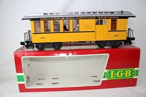 LGB G SCALE #3081 DENVER & RIO GRANDE COMBINE CAR W/ FULL PASSENGERS, BOXED