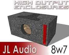 "8"" JL Audio 8W7 Single Ported/Vented Box 8.5 W7 8W7AE 8w7-3 Sub Tuned 32 hz"