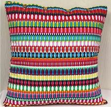 Cushion Cover Multi Colour Stripe Mexican Scatter Large Euro Throw Pillow Case