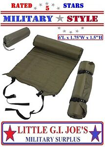Military Style Self Inflate Sleeping Mat 6' Inflatable Camping Sleep Pad 4423