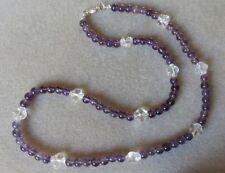 Brass Silver Plated Amethyst Costume Jewellery