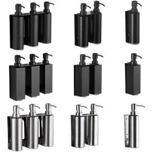 SUS 304 Bathroom Bath Soap Dispenser Liquid Bottle Shampoo Holder Wall Mounted