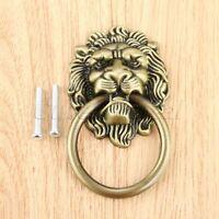 Vintage Lion Head Cabinet Knobs Ring Drawer Door Cupboard Pull Handle Hardware