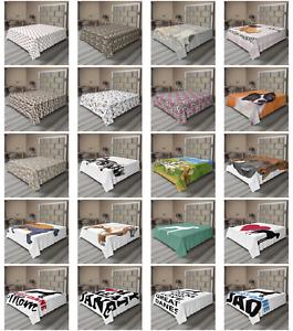 Ambesonne Dog Lover Flat Sheet Top Sheet Decorative Bedding 6 Sizes