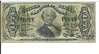50 Cents 4th Issue Fractional Currency FR1339 Green reverse About Uncirculated