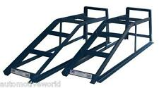 Pair of 2 Tonne Car Metal Ramps 2000kg 2T Vehicle Garage Tools Blue Cougar CR2