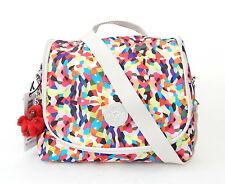 NWT Kipling Kichirou Lunch Bag With Furry Monkey Whimsy Multi Splatter