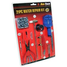 21 pc Watchmakers Watch Repair Tool Kit inc Link Remover and Pins New Seal Pack