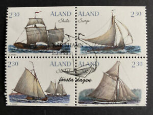 ALAND 1995 Boats of the Islands Block, Sailing Ships Fine Used - SG91/94