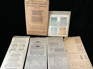 Original Vintage Sewing Smocking Embroidery Patterns Transfers circa 1920 McCall