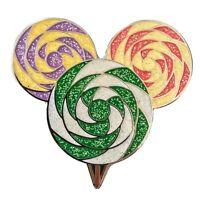 Disney First Release Mickey Mouse Head Lollipop Swirly Glitter 2010