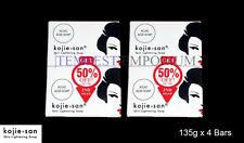4 x Large 135g Genuine Skin Lightening Kojie San Kojic Acid Soap Whitening BEVI