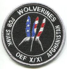 AFG-PAK WAR TROPHY 2008 SSI: OEF X/XI FOB FIREBASE SHANK AFGHANISTAN WOLVERINES