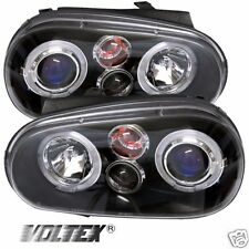 1999-2005 VOLKSWAGEN GOLF IV HALO LED PROJECTOR HEADLIGHTS LIGHTBAR LIGHT BLACK