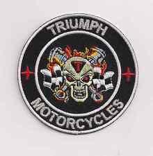 Triumph 2 piston skull patch,3 inch.Bonneville America Speedmaster Tiger NEW