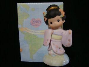 Precious Moments-Japanese Girl w/Kimono-Rare International Series-No Mark