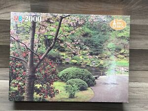 Jigsaw Puzzle Milton Bradley Super Big Ben Spring Blossoms 2000 Piece 1994
