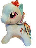 "My Little Pony Rainbow Dash 12"" Stuffed Plush Pegasus Blue Hasbro Lovey Toy"