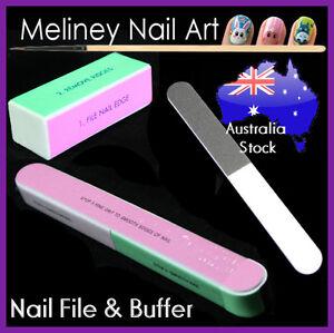 Nail File & Buffer Blocks Metal Emery boards Shine Ridge Smooth Nail art tool