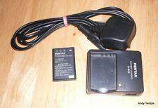 BATTERIA & Caricabatteria per Fuji NP-60 Pentax D-L12 Kodak KLIC - 5000 Olympus LI20B Casi