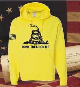 DON'T TREAD ON ME GADSDEN AMERICAN FLAG HOODED SWEATSHIRT T-SHIRT HOODIE DONT