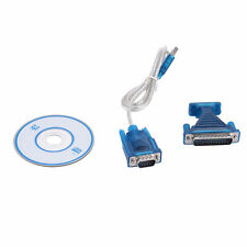 USB 2.0 to Serial RS232 DB9 9 Pin Adapter Converter Cable + 25-Pin Parallel Port