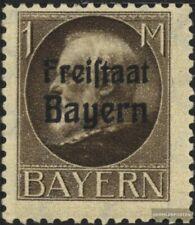 Bayern 165A postfrisch 1919 König Ludwig mit Aufdruck