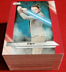 STAR WARS - THE LAST JEDI, SERIES 1 - COMPLETE BASE SET (100 cards) - Topps 2017