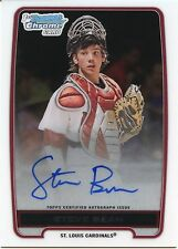 2012 Bowman DP&P Chrome Steve Bean On Card Autograph St. Louis Cardinals