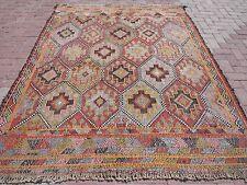 """Vintage Turkish Kilim Rug Anatolian Rug Tribal Rug 74""""x94,4""""  Area Rugs Carpet"""