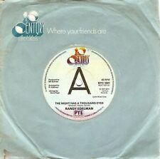 "RANDY EDELMAN The Night Has A Thousand Eyes 7"" Record Promo 20th Century 1977 EX"