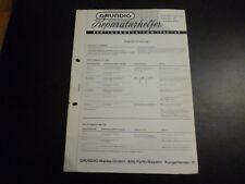 Original Service Manual Grundig Party Boy Luxus 202 202 202E