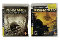 Playstation 3 (PS3) Lot Of 2: Resistance Fall Of Man & Resistance 2-CIB & Tested