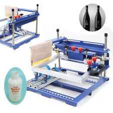 Qmh170 Simple Curved Screen Printing Machine Cylindrical&Conical Printer A Grade