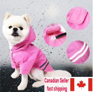 Pet Raincoat Waterproof Coats for Dogs Lightweight with Safety Reflective Stripe