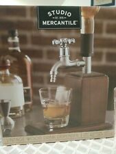 Studio Mercantile Vintage Wood Drink Dispenser and Store Bar fits most bottles