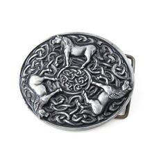 Silber Keltischer Schmuck Knoten Pferde Herren Damen Gürtelschnallen Buckle