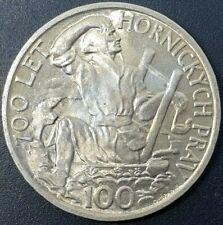 More details for czechoslovakia 100 korun 1949 mining privileges km#29 schön#35 silver 0.500 coin