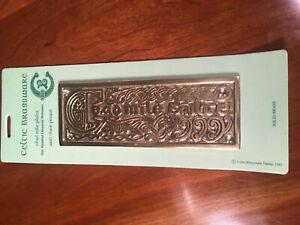 Celtic Brassware Cead Mile Failte-100,000 Welcomes/Irish SolidBrass Wall Plaque