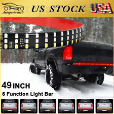 """49"""" LED Brake Tailgate Light Bar Sequential Turn Reverse for Ford Ram JEEP Truck"""