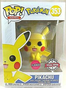 POP! GAMES / Funko / Pokemon 353 - Pikachu (Flocked) Special Edition Brand New