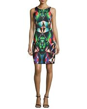 :) Milly Prism Print Racerback Sheath Dress  Multi color  0