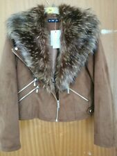 Womens f and f jacket coat size 14   BEAUTIFUL BNWT removable fur collar rrp £39