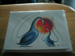 2005 Set of 12  5x7 Inch Art Cards & Envelopes by Ojibway Artist Hugh McKenzie