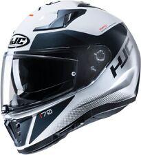 HJC i70 Tas weiß schwarz MC10 Gr. L Motorradhelm mit Sonnenblende
